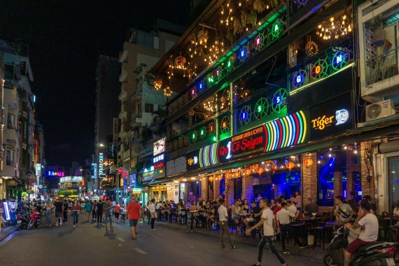 Pham Ngu Lao Walking Street