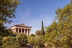 Hephaisteion across the Ancient Agora