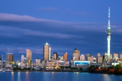 Evening over the Auckland skyline