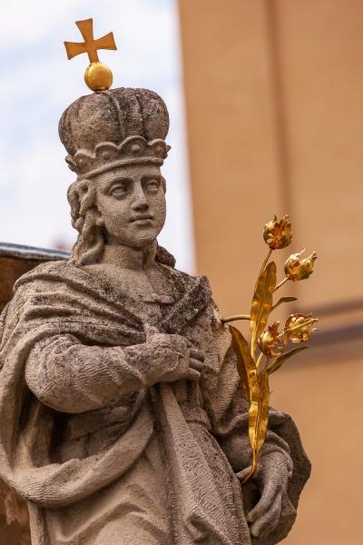 Statue in front of the Arcbishop's Palace, Veszprem