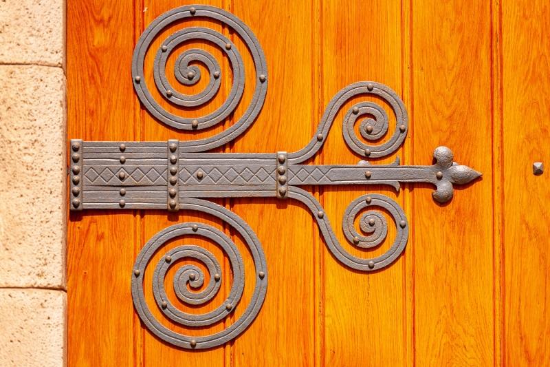 Door to St. Michael's cathedral, Veszprem