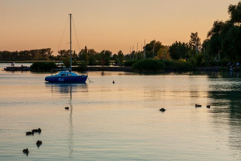 Evening over Lake Balaton