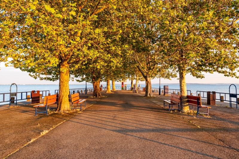 Evening, Alsóörs pier
