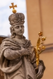 Statue in front of the Arcbishop's Palace, Veszprem