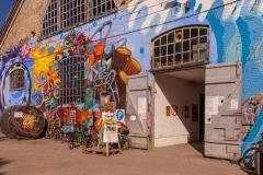 Graffiti covered building, Christiania