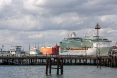 Cruise ships at berth