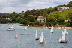 Yacht race, Dartmouth harbour