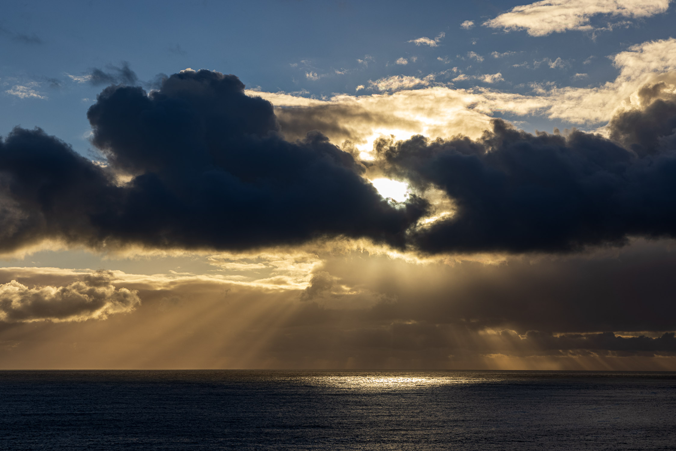 Sunburst off the Purbeck Coast