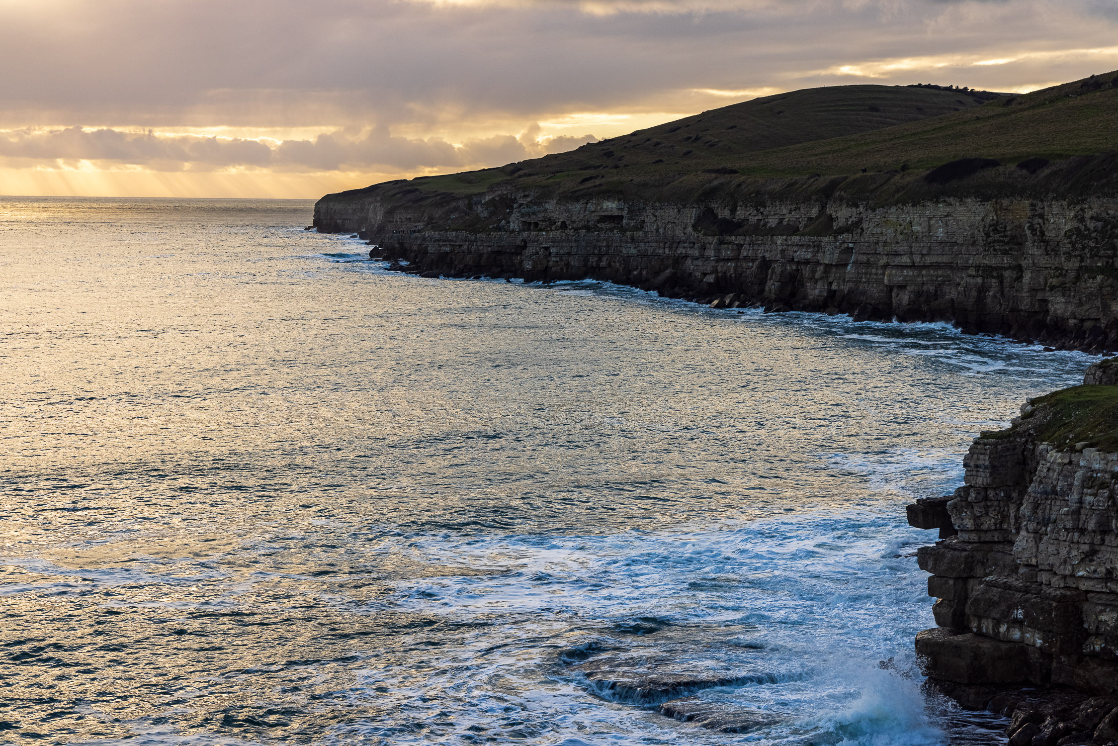 Winter light at St. Aldhelm's Head