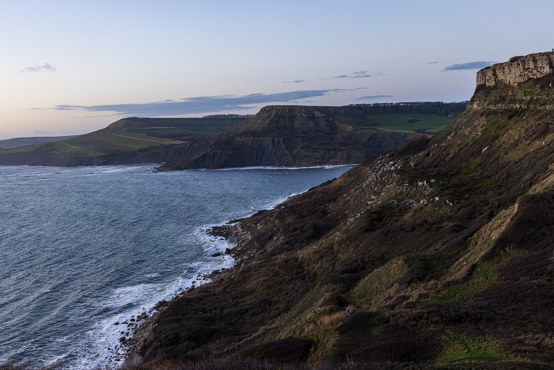 Dusk over the Purbeck Coast