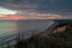 Sunset over Poole Bay from Hengistbury Head