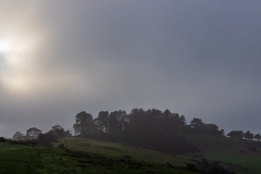 Breaking through the fog over Penbury Knoll
