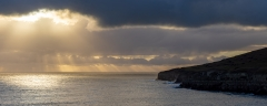 Sunburst behind St. Aldhelm's Head