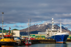 Ships in Höfn harbour, southeast Iceland