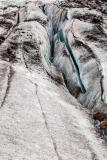 Longitudinal crevasses, Falljökull