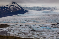 Glacial lagoon and glacier, Skaftafellsjökull