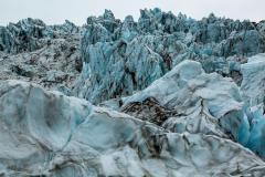 Jagged icefall formations, Falljökull
