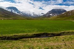 View inland from the head of Fáskrúðsfjörður, Eastfjords