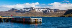 View across the harbour at Neskaupstaður.