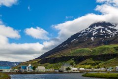 Town centre and harbour,Seyðisfjörður