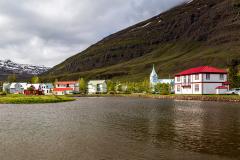 Seyðisfjörður from across the harbour