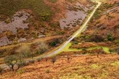 Crossing the Exmoor moorland