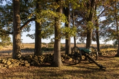 Confederate artillery positions