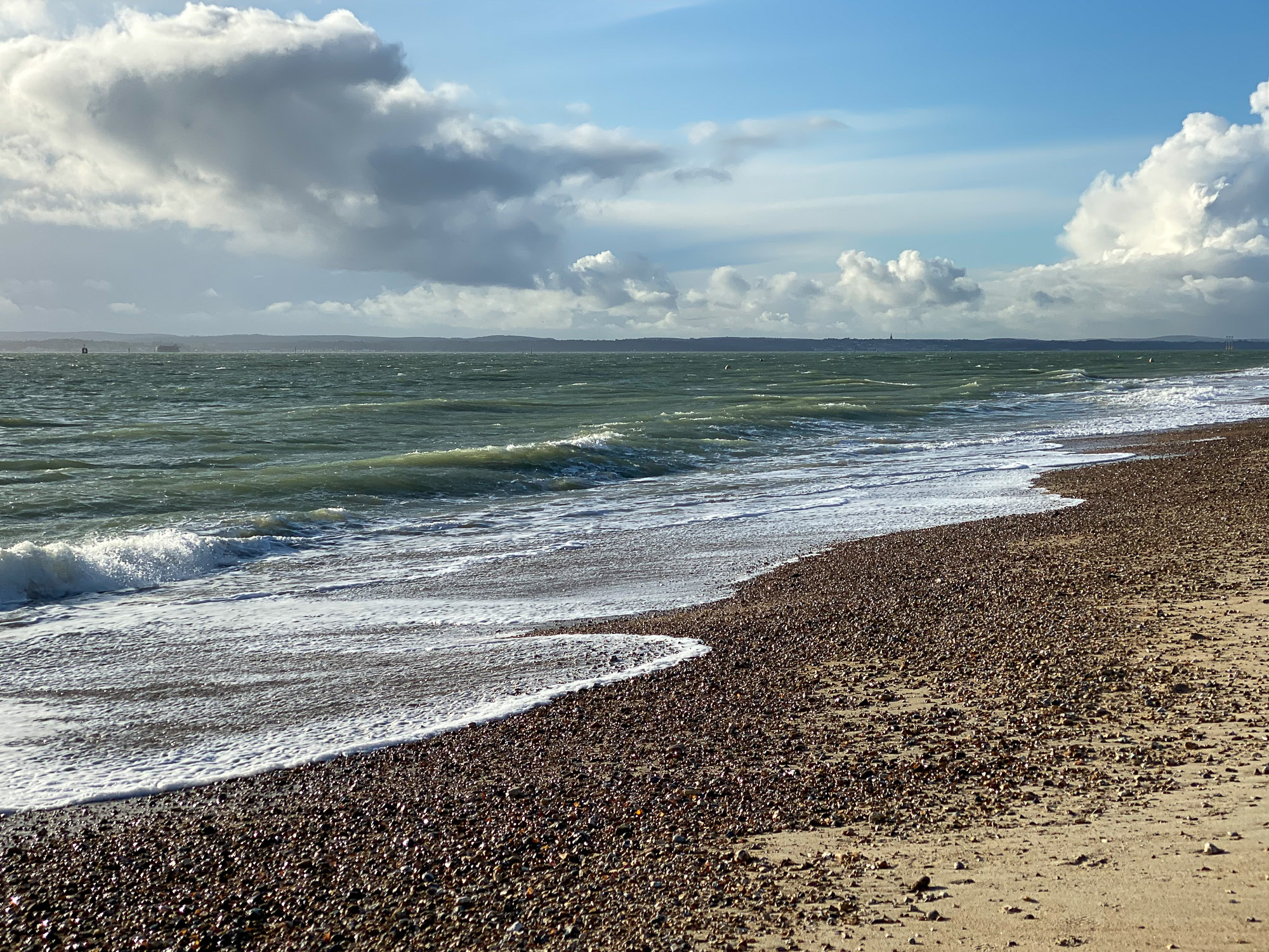 Winter afternoon on Southsea beach