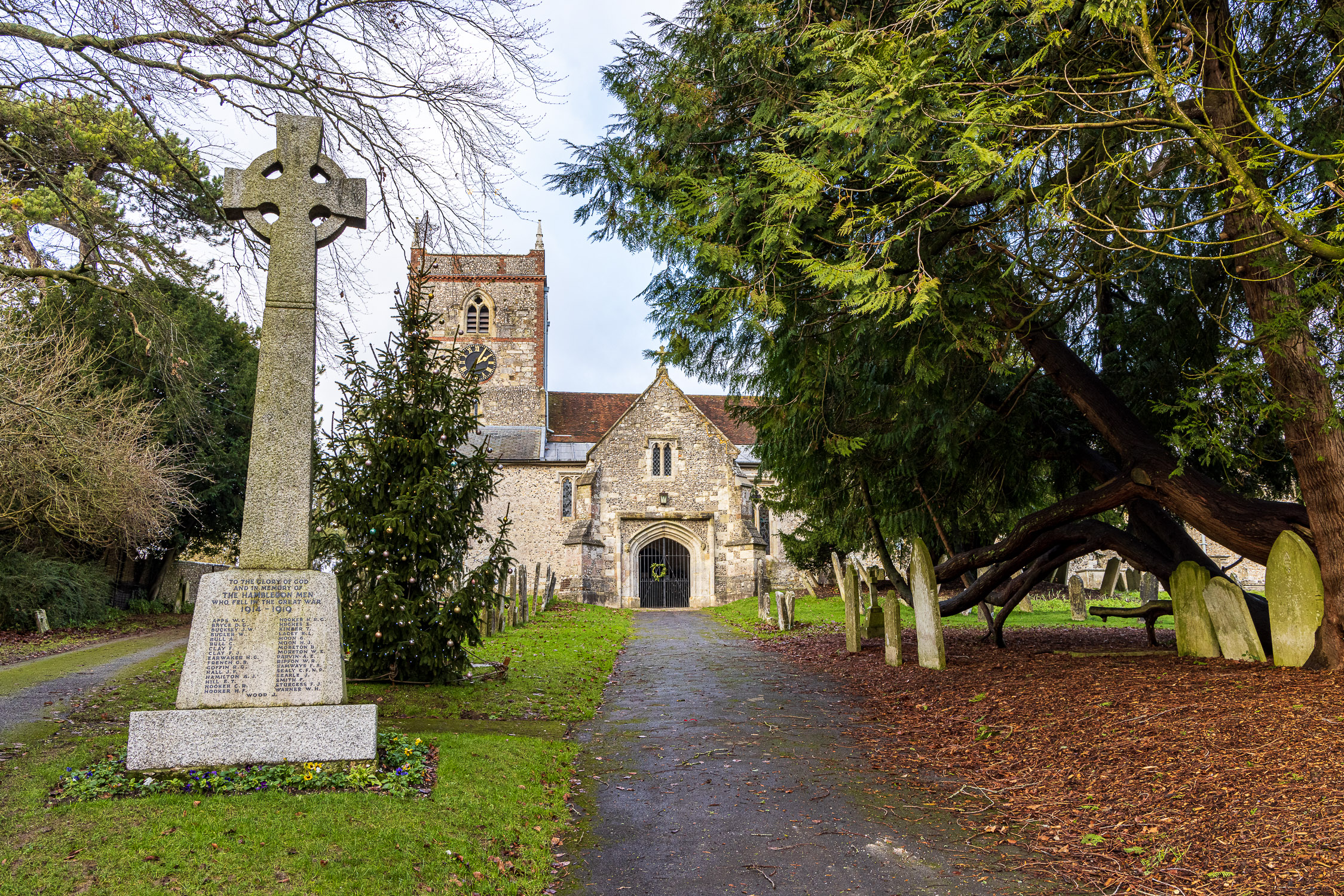 Approach to the Church of St. Peter and St. Paul, Hambledon