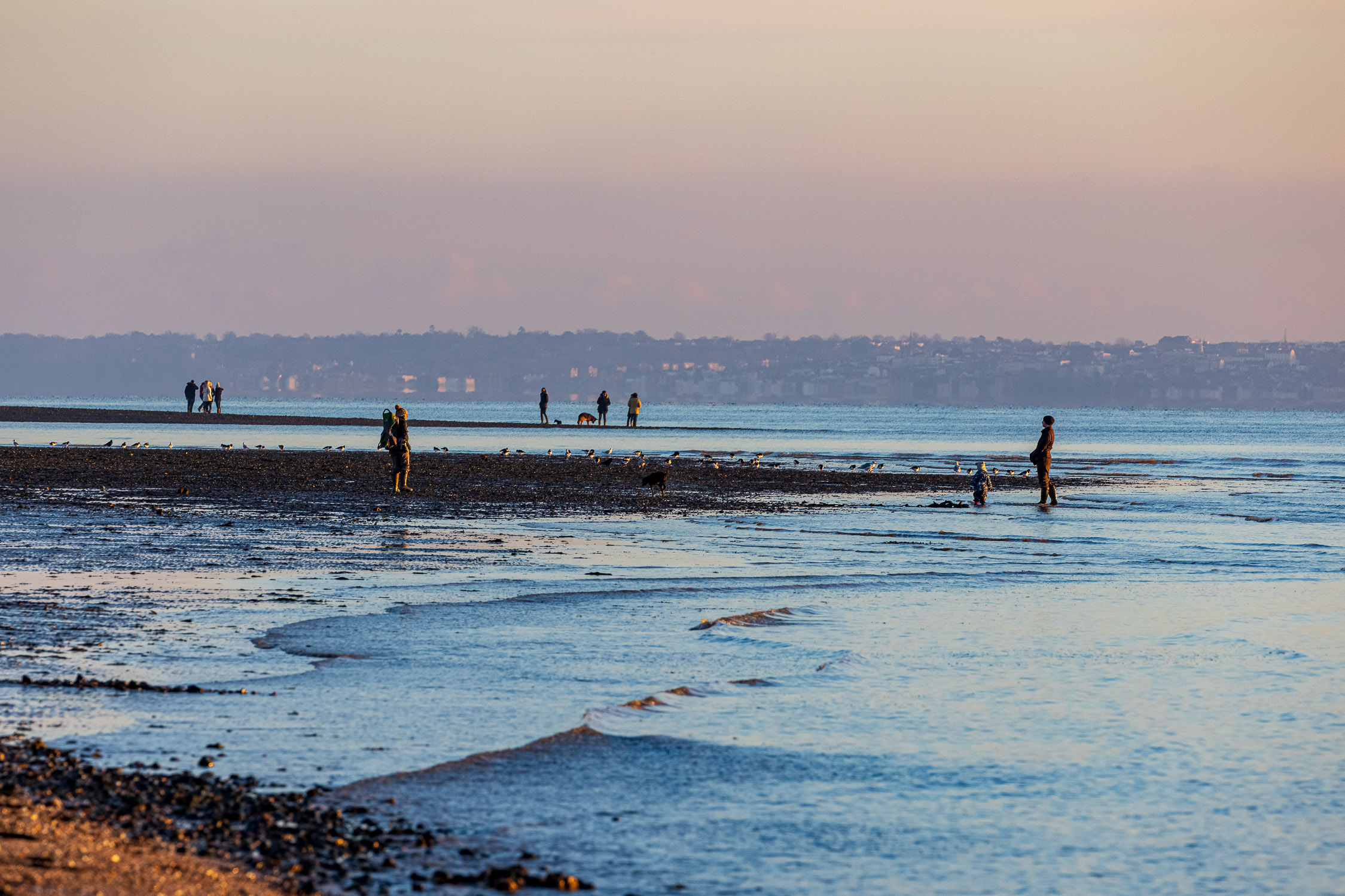 WInter afternoon on Meon Beach