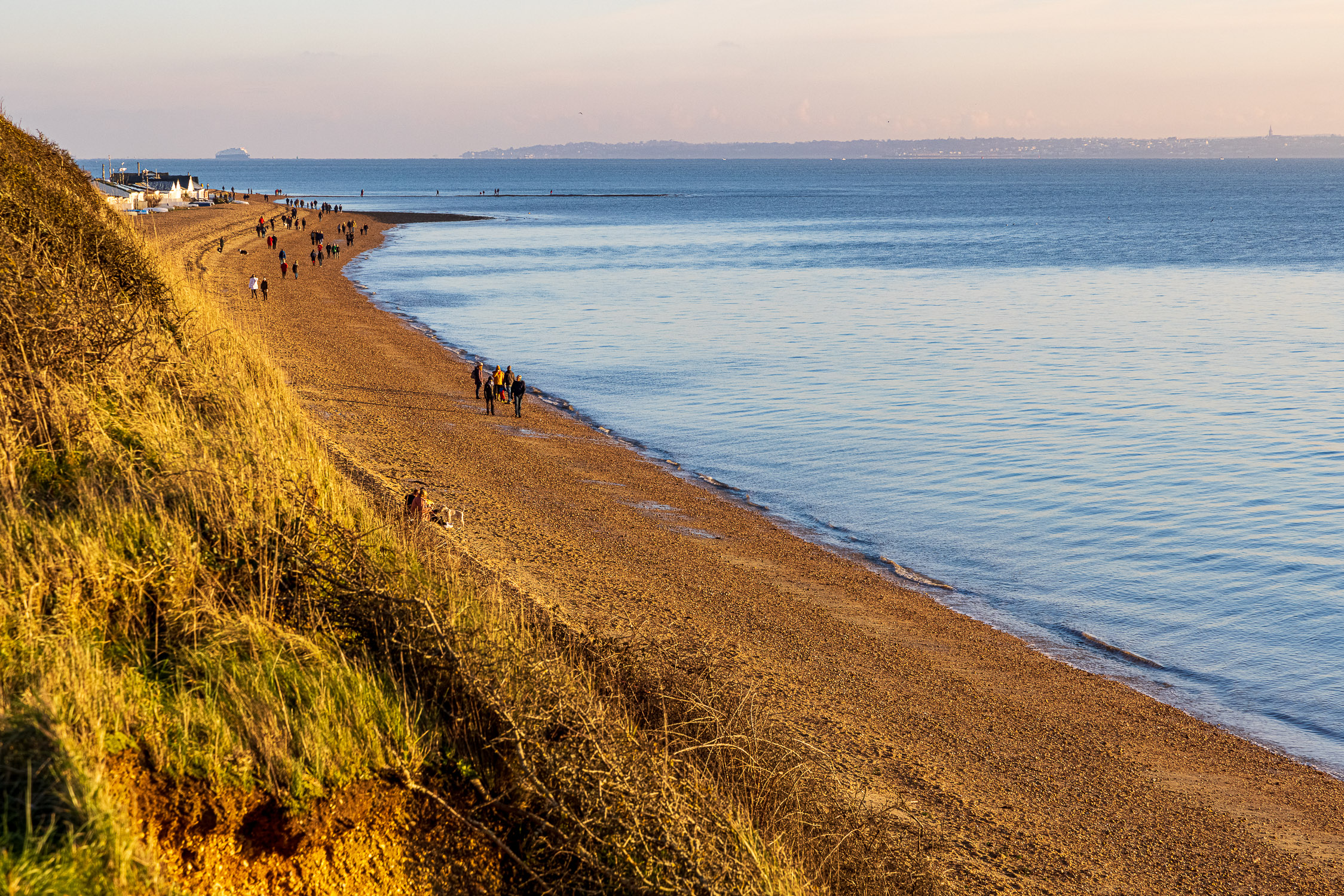 Meon Beach from the clifftop path