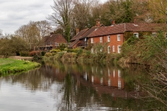 Houses beside the River Itchen, Winchester