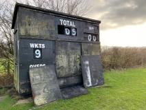 Old cricket scoreboard