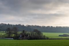 Hampshire farm in Winter light