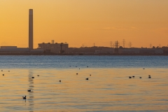 Old Fawley Power Station at sunset