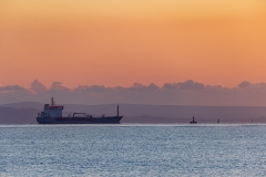 Oil tanker and pastel colours