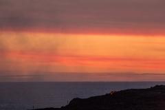 Sunset lava breakout