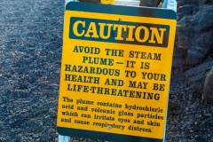 Volcano warnings