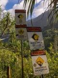 Kalalau Trail warning signs
