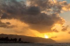 Sunset over Waialua Bay