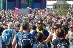 Crowds in the Olympic Park