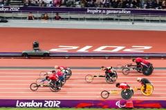 Mens 100m T52 final