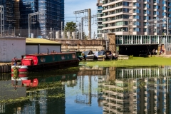 Regents Canal at Kings Cross Central