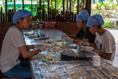Wrapping sweets, Mekong Delta