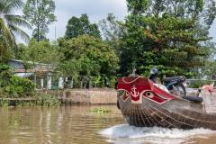Traditional Mekong boat