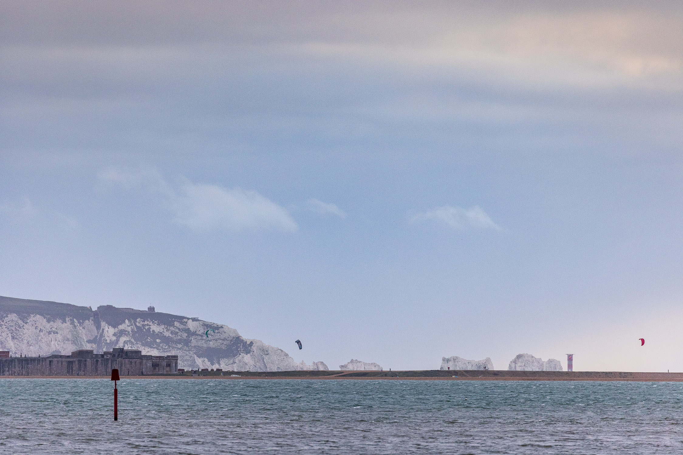 Hurst Point and the Needles from Keyhaven