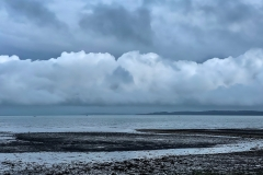 Stormy clouds across Keyhaven Marshes