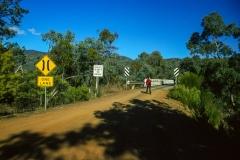 Approaching McKillop Bridge