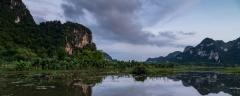 Dusk over the Tam Coc landscape, Ninh Binh Province
