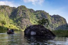 Exploring the rivers of Tam Coc, Ninh Binh Province